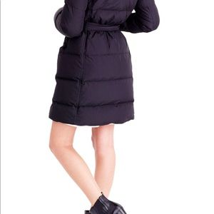 Wintress belted down puffer coat